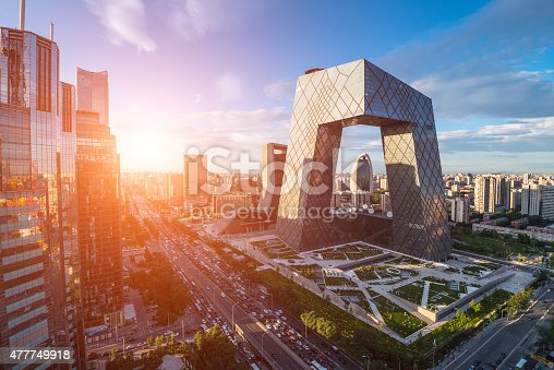 istock Beijing Central Business district buildings skyline, China cityscape 477749918