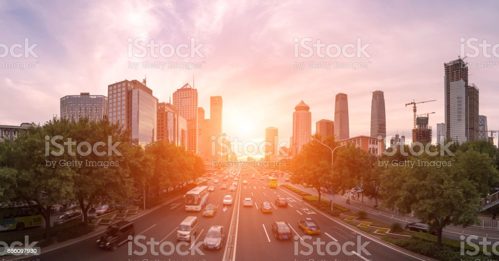 Peking, Central Business district Gebäuden, China Stadt skyline – Foto