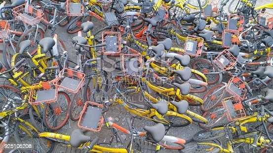 istock Beijing, China Abandoned shared bicycle 925105208