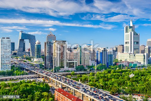 istock Beijing, China CBD Cityscape 467898178