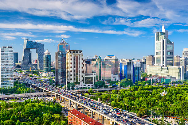 北京、中国のビジネス街の景観 - 北京 ストックフォトと画像