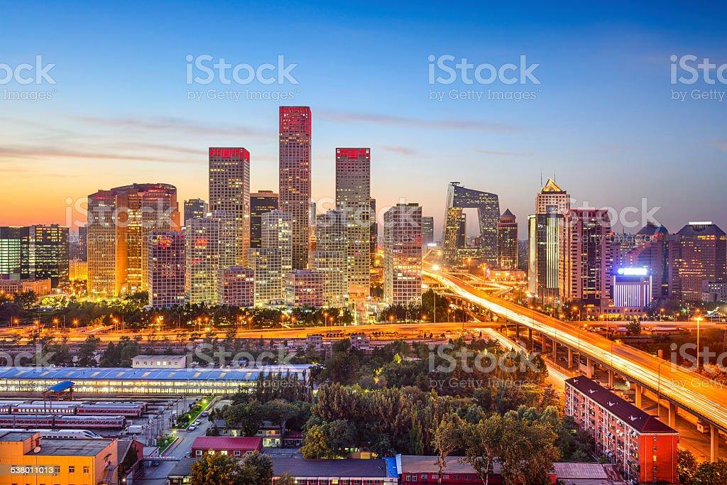 Beijing, China CBD Skyline stock photo