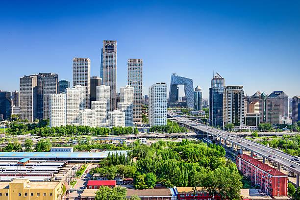 北京中国金融地区の街並み - 北京 ストックフォトと画像