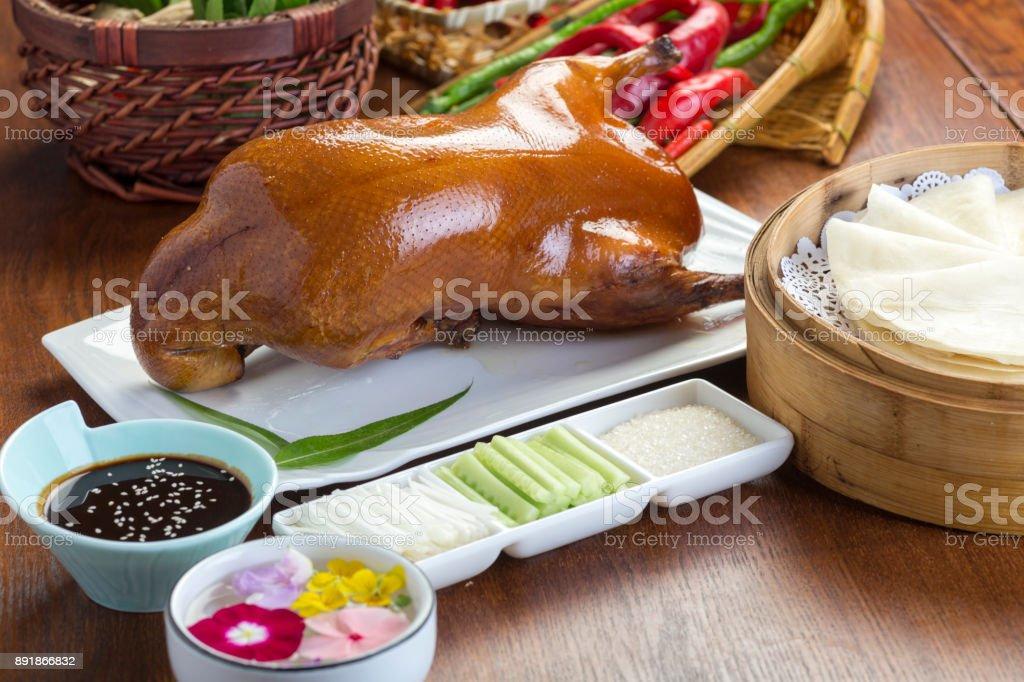 Beijing, China roast duck stock photo