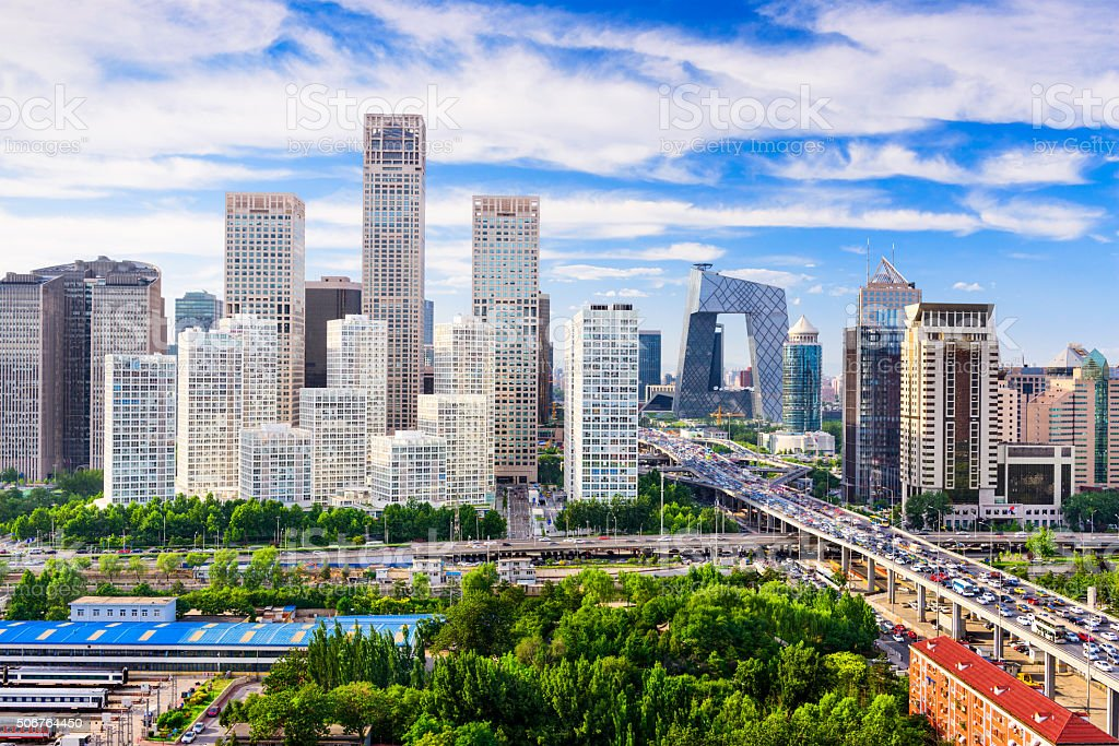 Beijing China Skyline stock photo