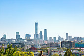 Autumn in Beijing is sunny and high on the city skyline, the CBD of the financial district