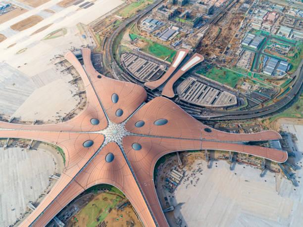 北京ダーシン空港空撮 - 北京 ストックフォトと画像