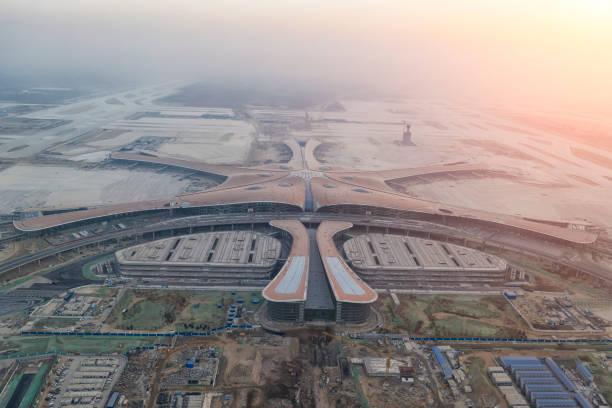 Beijing Daxing International Airport ist ein Flughafen-Neubauprojekt die Peking dienen wird. – Foto