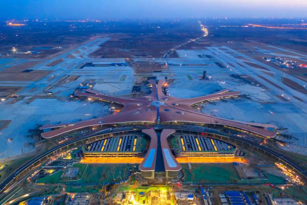 Der Beijing Daxing International Airport ist ein neues Flughafenbauprojekt, das Peking, China, bedienen wird. – Foto