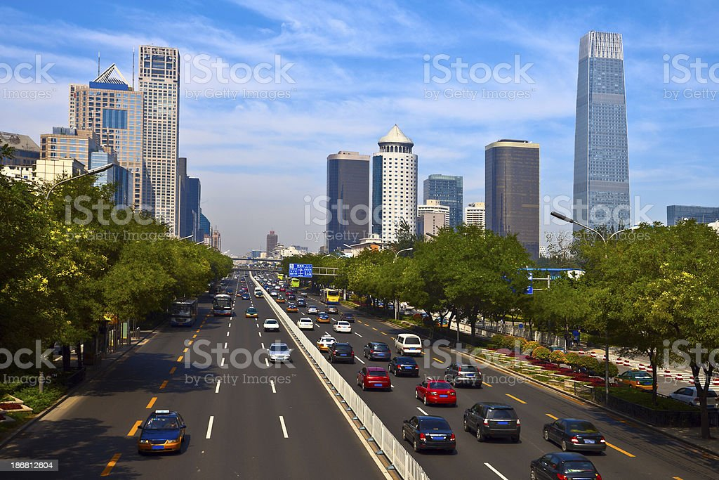 Beijing downtown district royalty-free stock photo