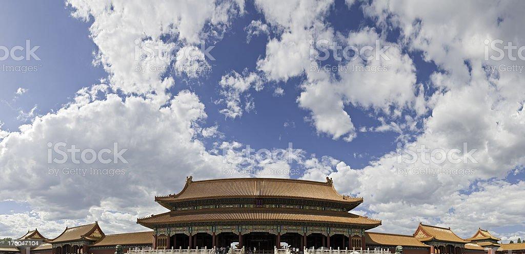 Beijing Forbidden City big sky vista China royalty-free stock photo