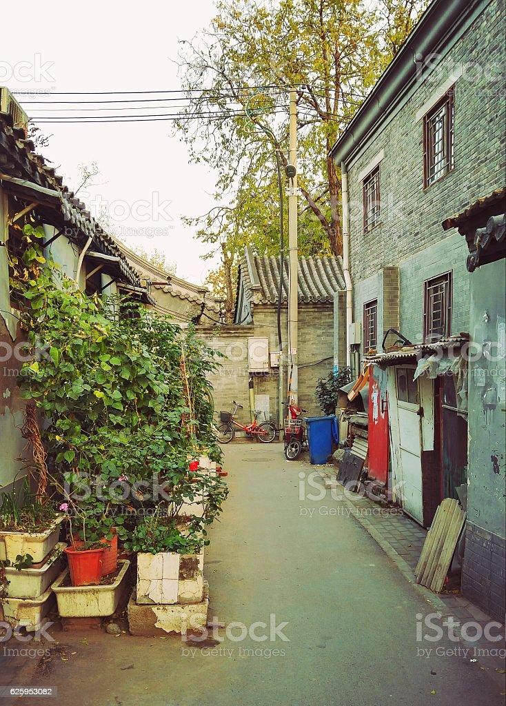 Pechino Hutongs foto stock royalty-free