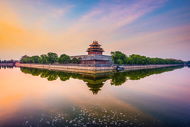 Beijing Imperial City Beijing, China at the Imperial City north gate. forbidden city stock pictures, royalty-free photos & images