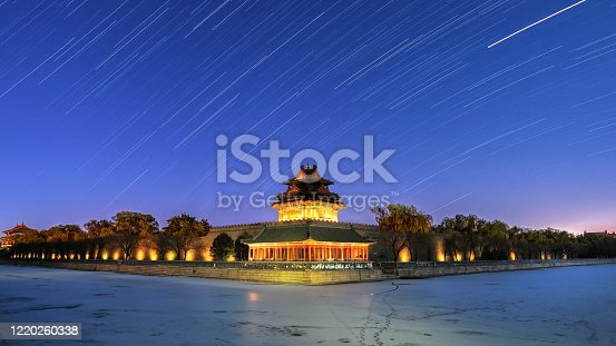 Beijing Imperial Palace turret star track