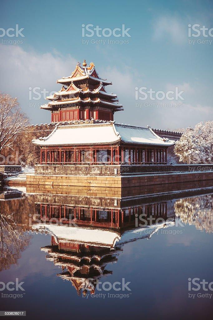 Beijing in winter stock photo