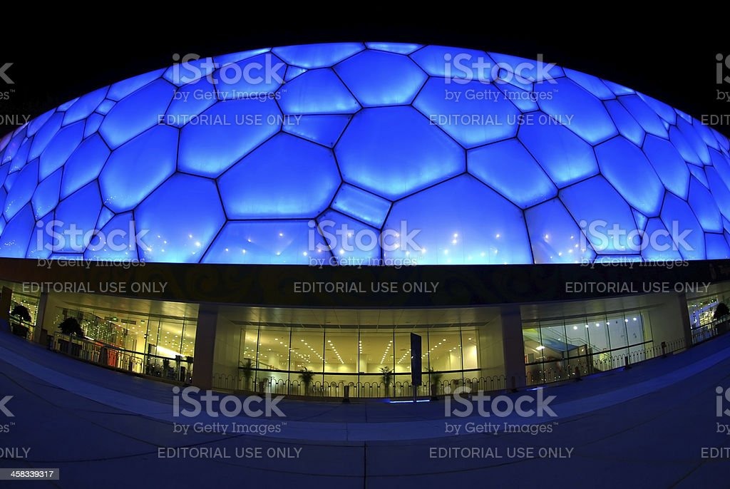 Beijing National Aquatics Center royalty-free stock photo