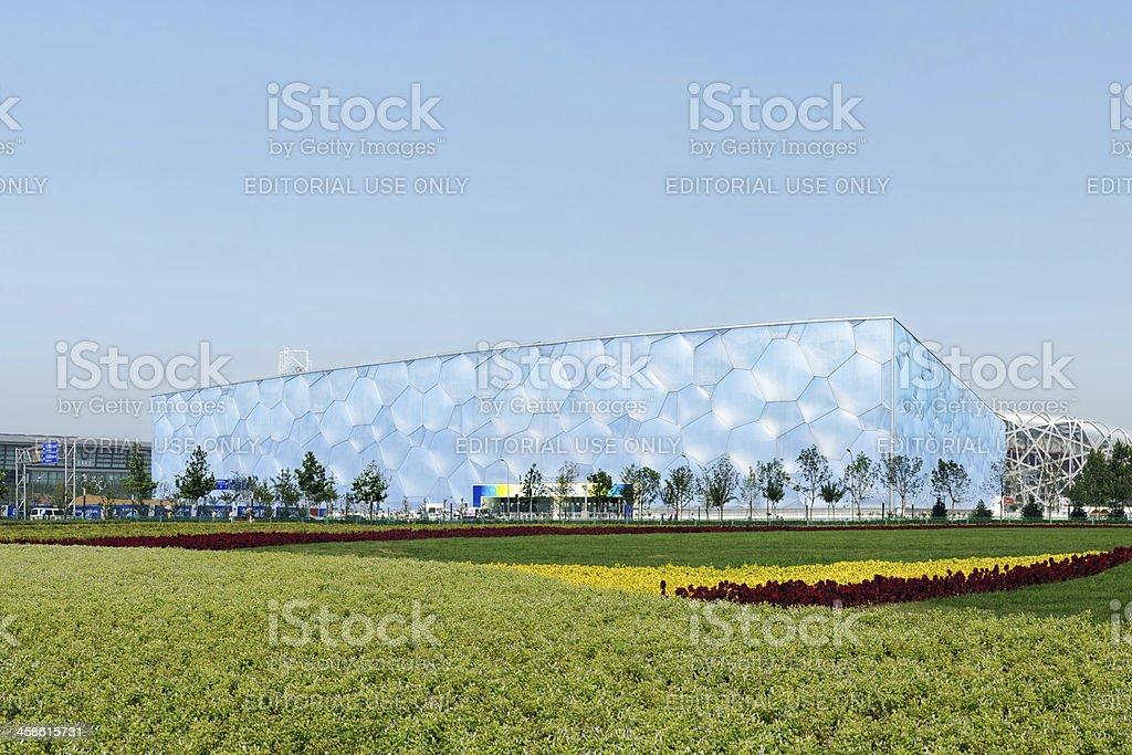 Beijing National Aquatics Center 'Water Cube' - XXXLarge royalty-free stock photo