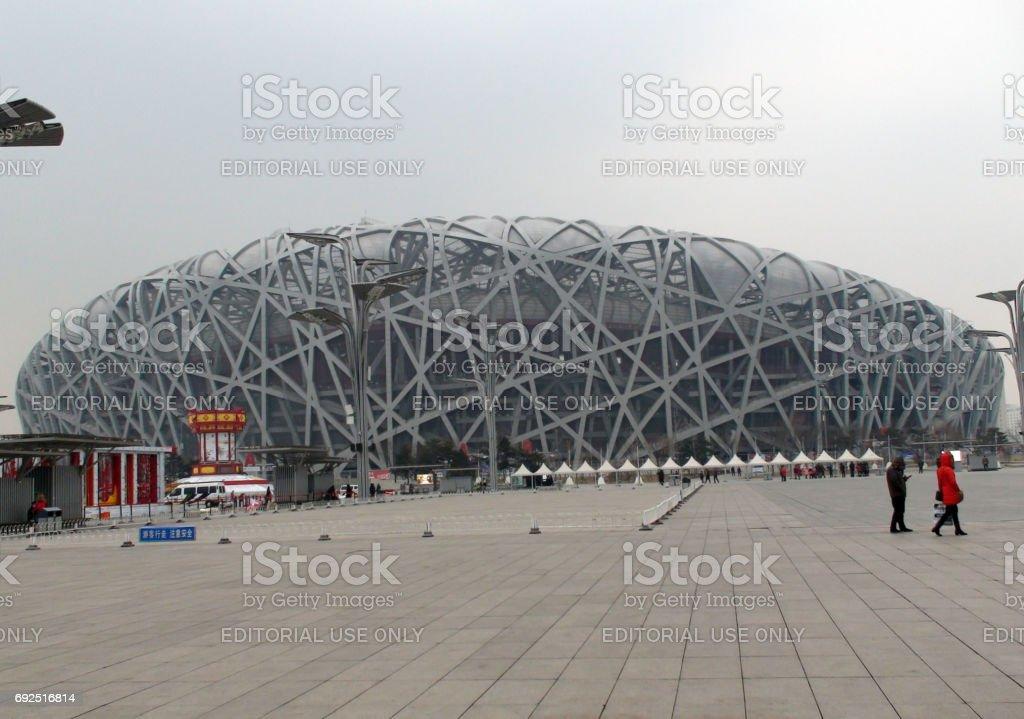 Beijing National Olympic Stadium Building Exterior.China.East Asia stock photo
