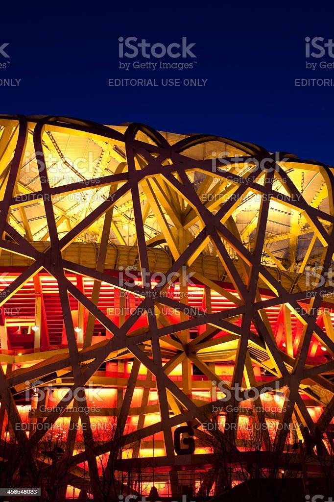 Beijing National Stadium by night royalty-free stock photo