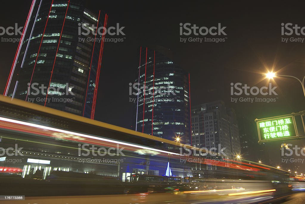 Beijing Night royalty-free stock photo