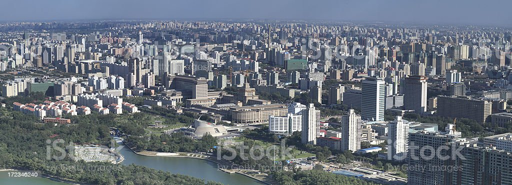 Beijing Overview royalty-free stock photo
