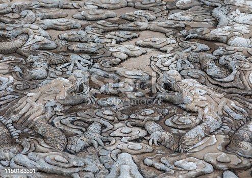 Beijing Palace Chinese dragon pattern carving