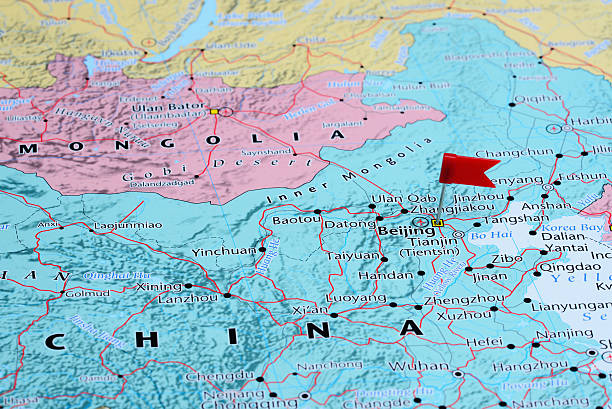 Royalty free map beijing china thumbtack pictures images and stock beijing pinned on a map of asia stock photo gumiabroncs Image collections