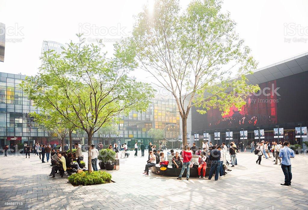 Beijing Sanlitun stock photo