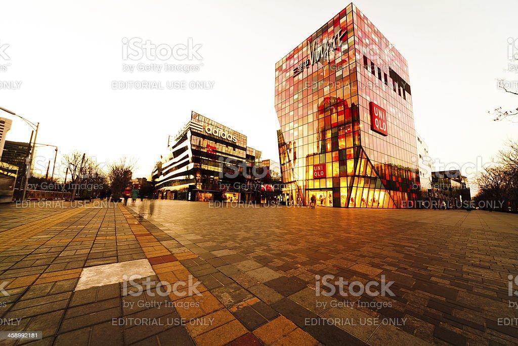 Beijing Sanlitun Village shopping mall stock photo