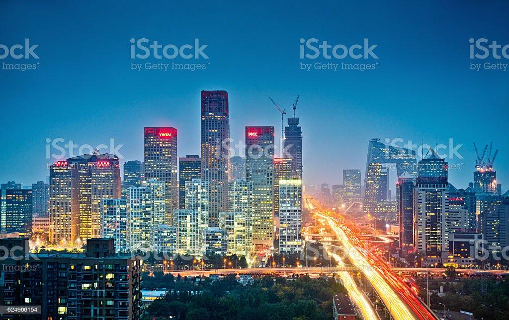 Beijing skyline, China stock photo