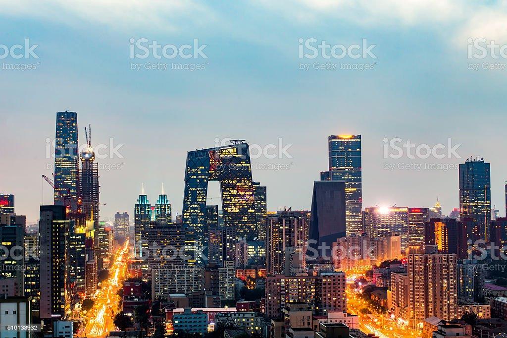 Beijing skyline stock photo