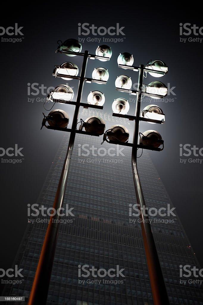Beijing skyscraper - Building lighting royalty-free stock photo