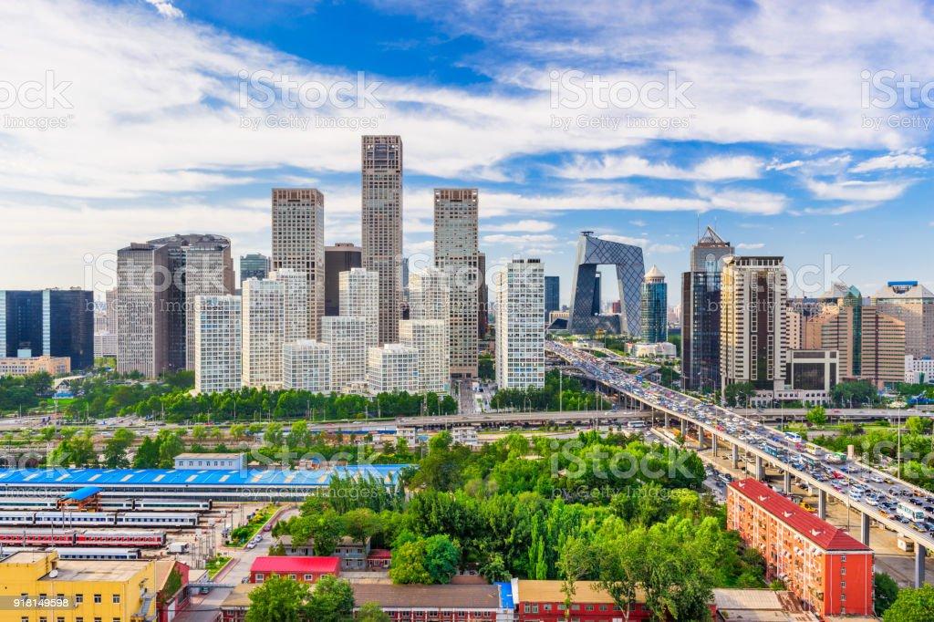 Beijing Sunset Scene stock photo