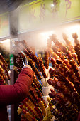 Food, Candy, Dessert, Fruit, Glazed Food. Candied Haw in a Stick is a tradiational Beijing Snack.