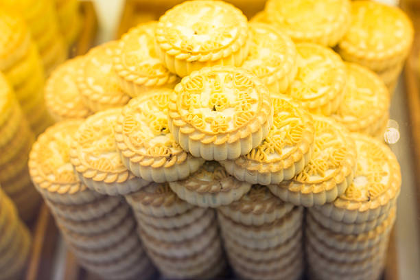 beijing traditional cookie sold in the market stock photo