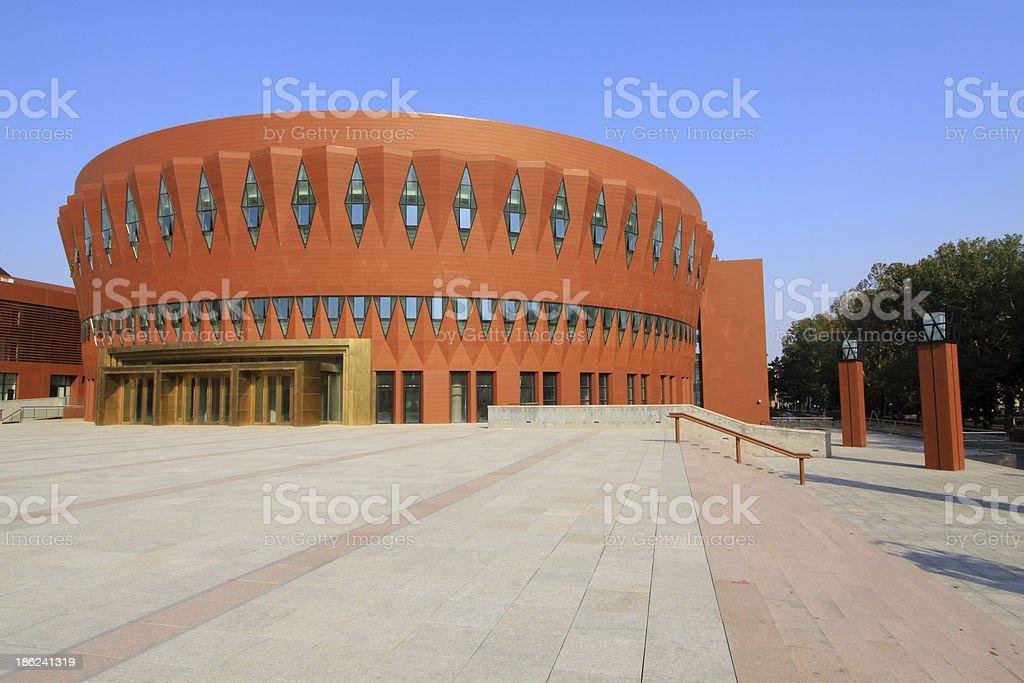 Beijing tsinghua university campus architecture and landscape, c royalty-free stock photo