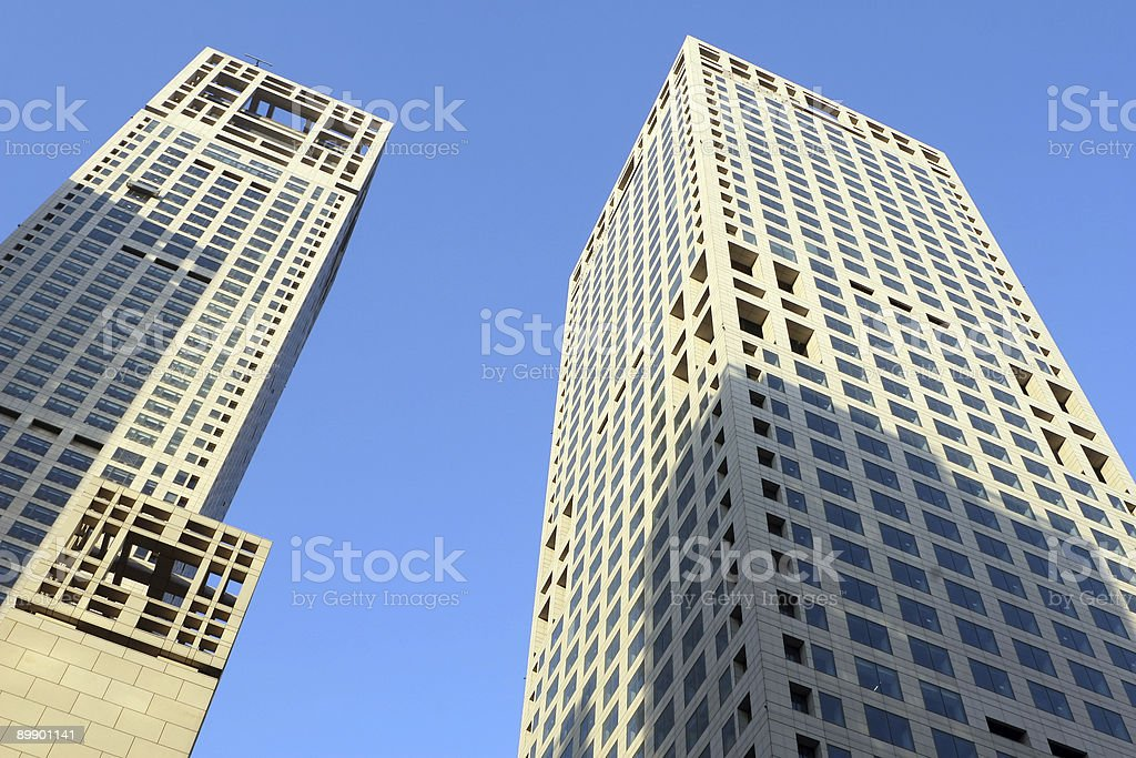 beijing: twin towers royalty-free stock photo