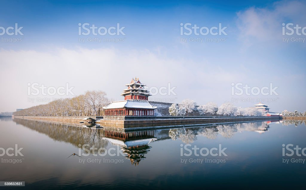 Beijing Winter Panorama stock photo