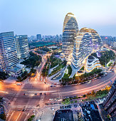 Beautiful night view of Beijing's Central Business District