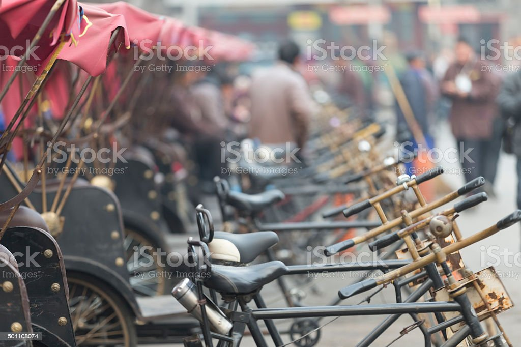 Beijing's Sanlunche (Tricycles), China stock photo