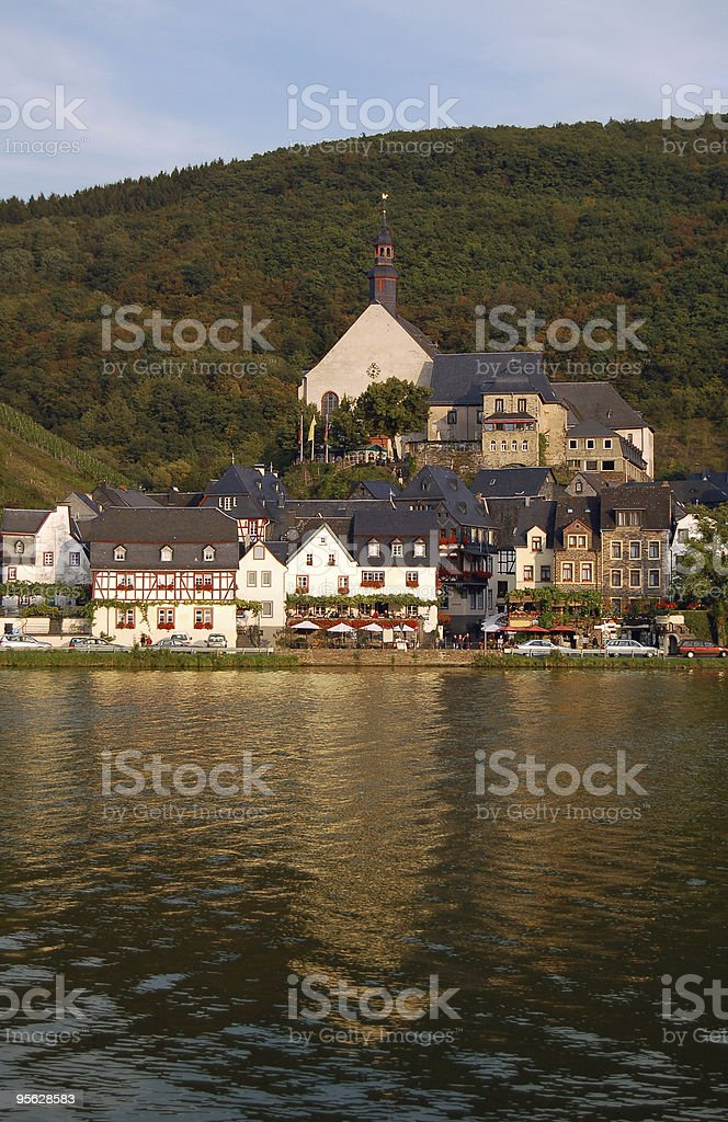 Beilstein on Mosel River royalty-free stock photo
