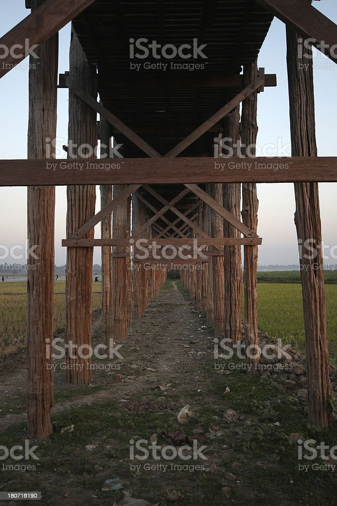 U Bein Bridge, Myanmar royalty-free stock photo
