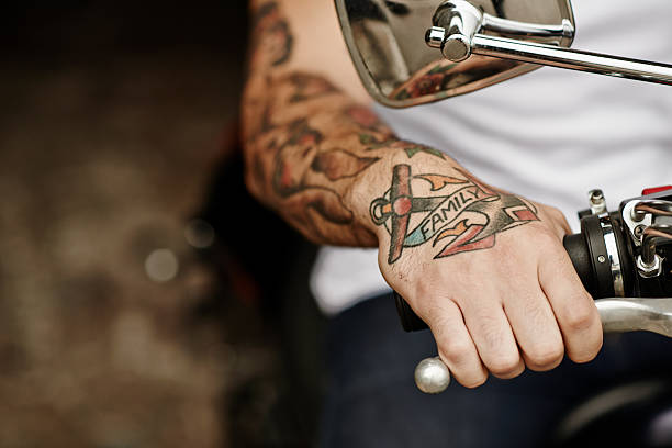 being a biker - biker stock photos and pictures