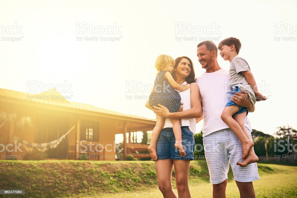 Being a family means being part of something very wonderful stock photo