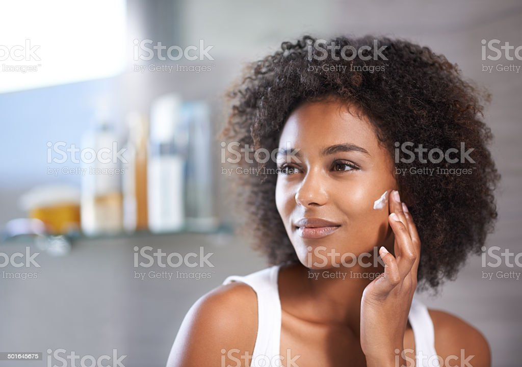 Being a fresh-faced beauty takes work stock photo