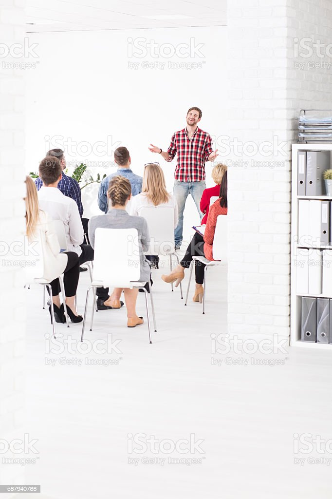 Being a leader gives you charisma stock photo