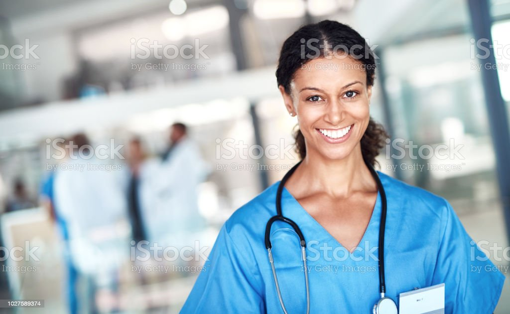 Being a nurse brings me so much joy stock photo