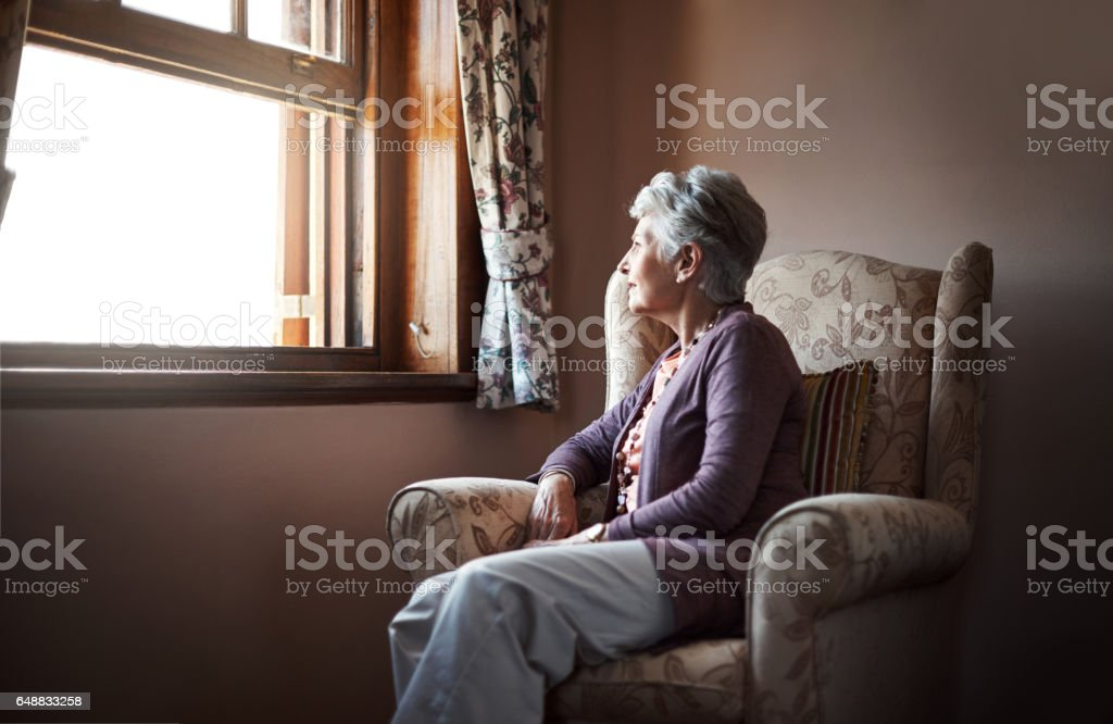 Being alone is something we all have to experience stock photo