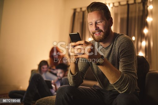 istock Being close with all of his friends 867019548
