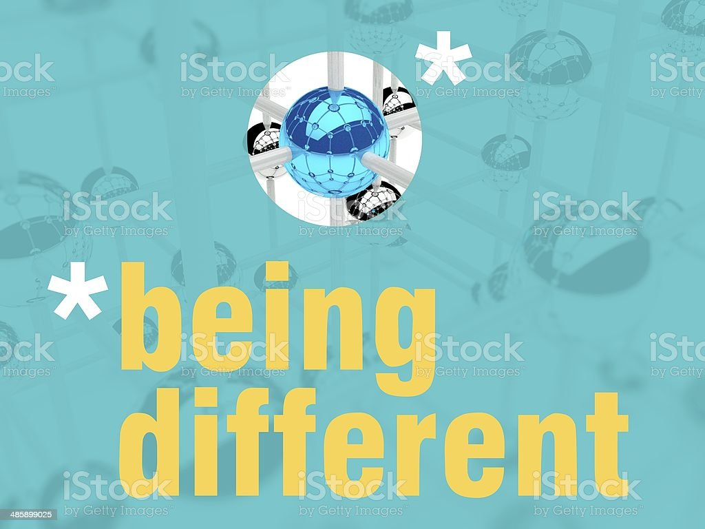 Being different unique leader individualist royalty-free stock photo